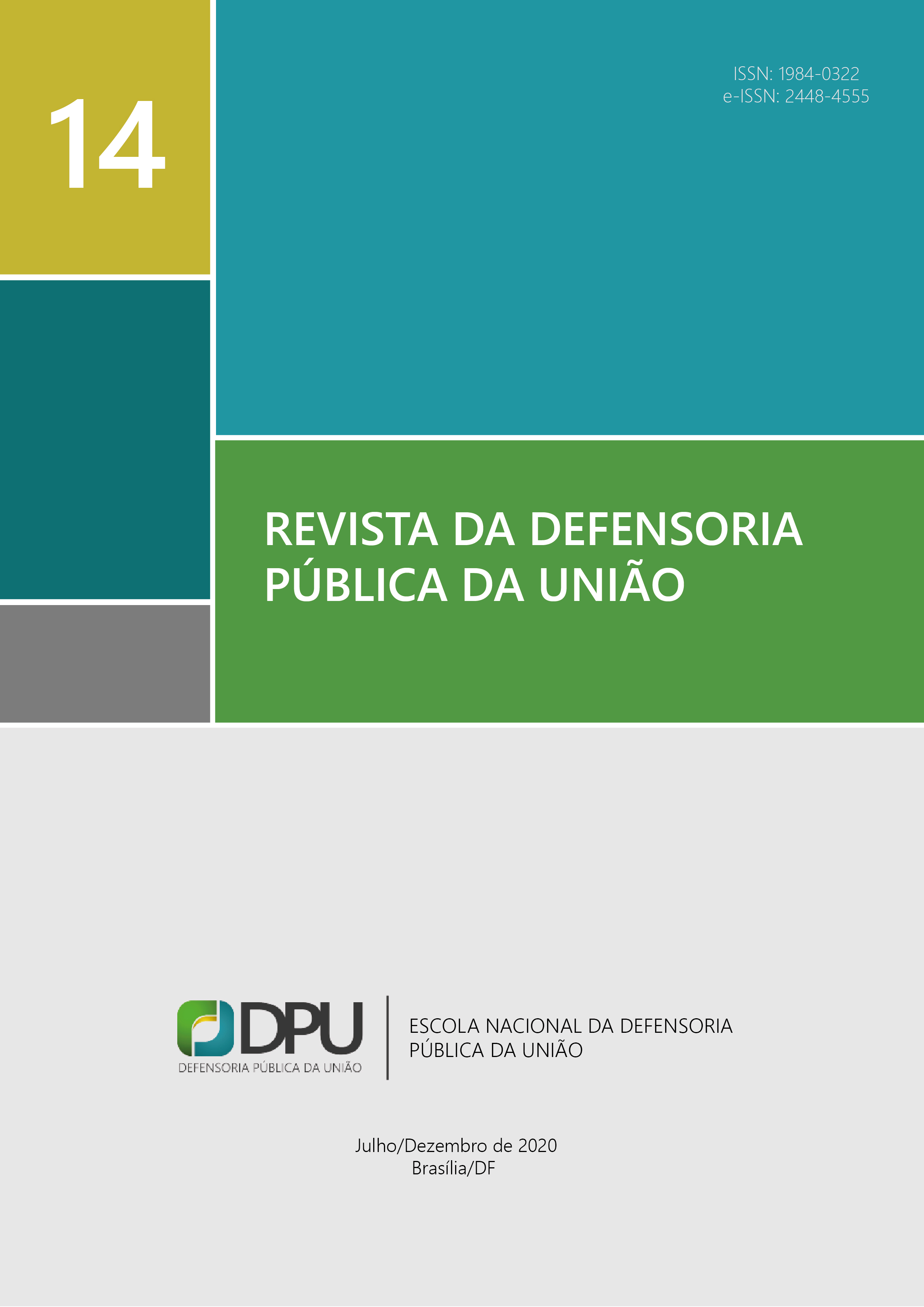 Visualizar n. 14 (2020): Revista da Defensoria Pública da União